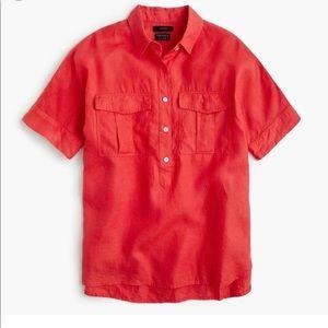 J Crew linen popover shirt